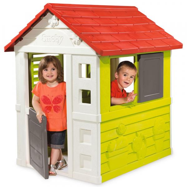 Casuta pentru copii Smoby Nature Playhouse 1