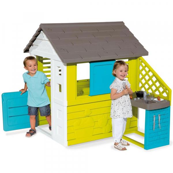 Casuta pentru copii Smoby Pretty cu bucatarie 1