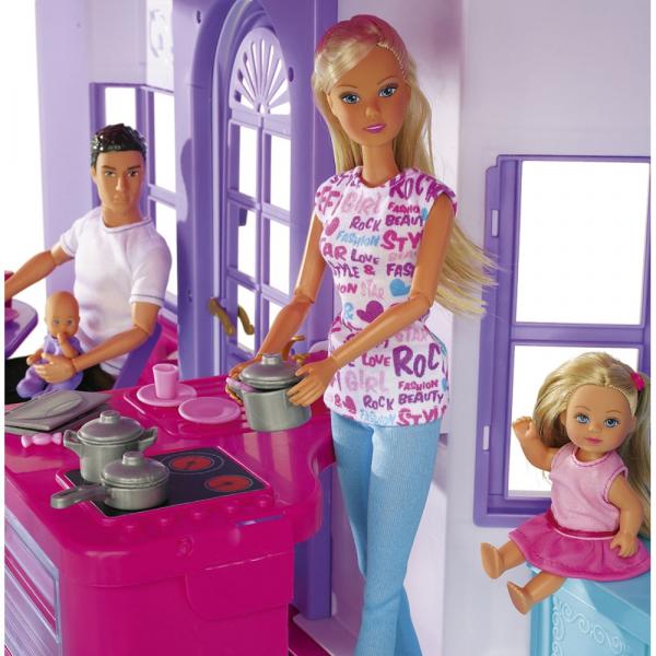 Casuta pentru papusi Simba Steffi Love My Dreamhouse cu accesorii 5