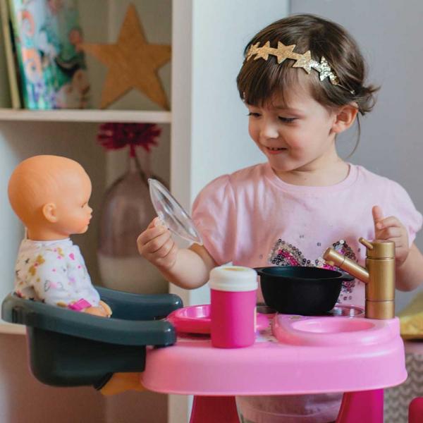 Centru de ingrijire pentru papusi Smoby Baby Nurse Doll`s Play Center roz cu 23 accesorii [7]