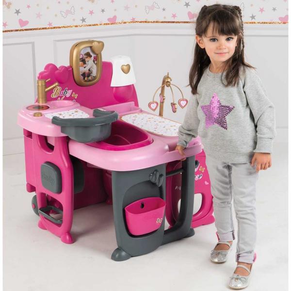 Centru de ingrijire pentru papusi Smoby Baby Nurse Doll`s Play Center roz cu 23 accesorii [8]