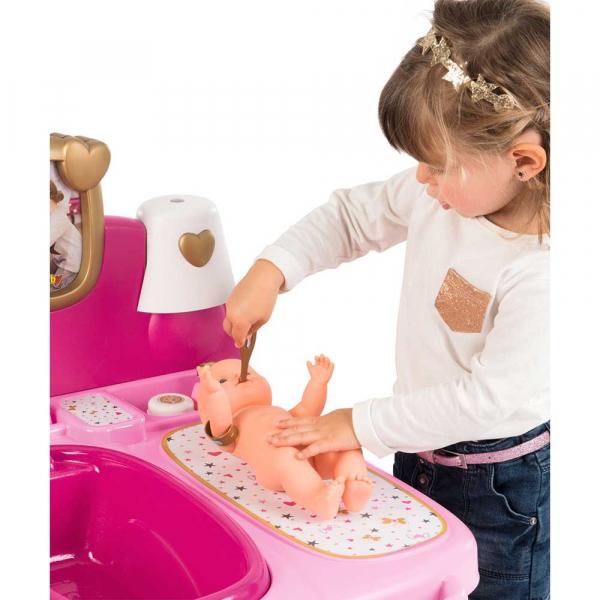 Centru de ingrijire pentru papusi Smoby Baby Nurse Doll`s Play Center roz cu 23 accesorii [5]
