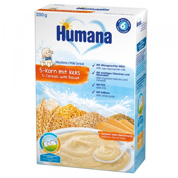 Cereale Humana cu 5 cereale si biscuiti de la 6 luni 200 g 0