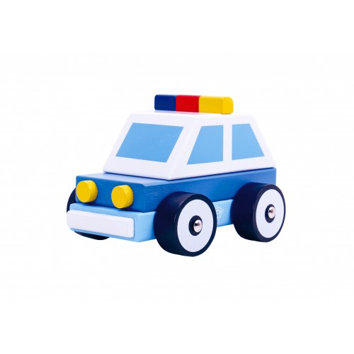 Masina de Politie colorata de lemn [0]