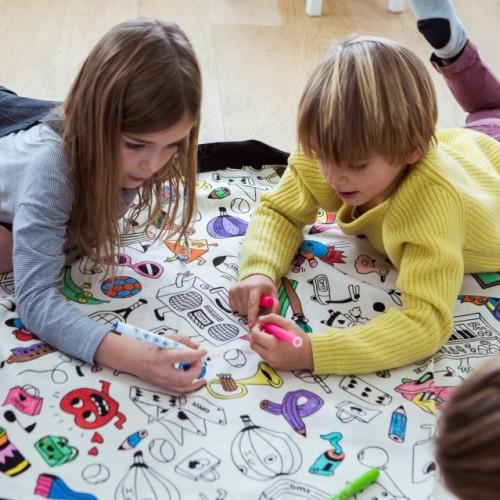 Covor joaca si organizator jucarii de Colorat 1