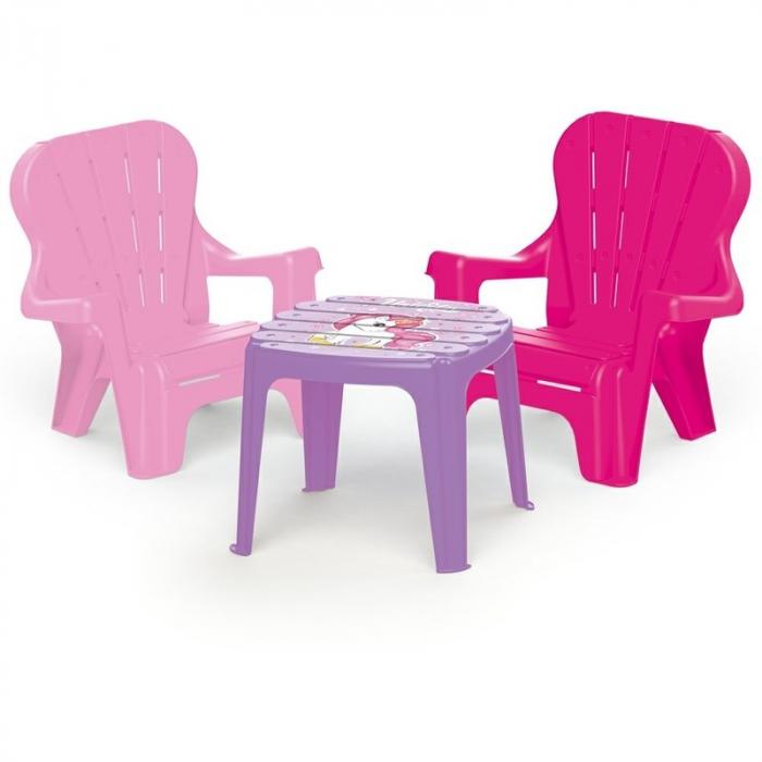 DOLU Set de masa cu scaune - Unicorn 0