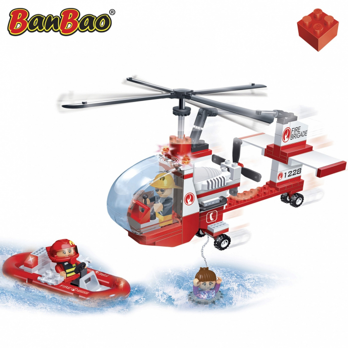 Elicopter pompieri, 150 piese + 3 figurine 1