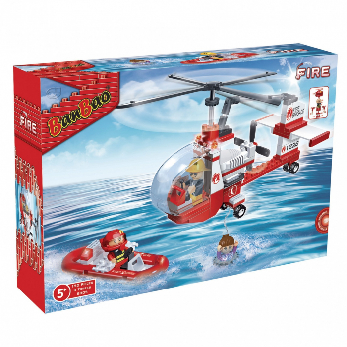 Elicopter pompieri, 150 piese + 3 figurine 0
