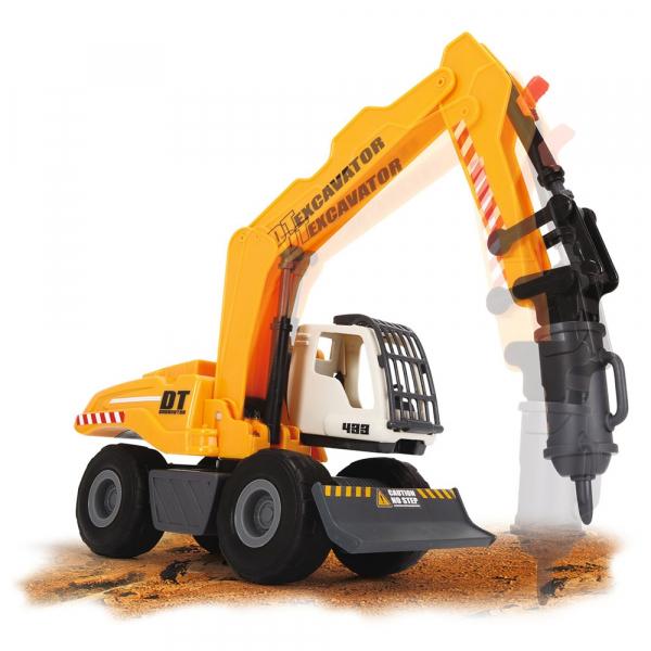 Excavator Dickie Toys DT 433 cu accesorii [4]