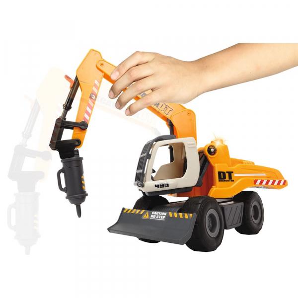 Excavator Dickie Toys DT 433 cu accesorii [2]