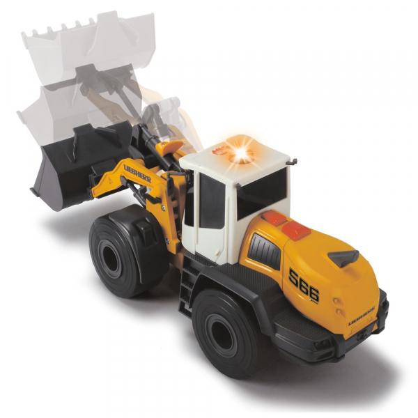 Excavator Dickie Toys Liebherr L566 Xpower cu sunete si lumini 4