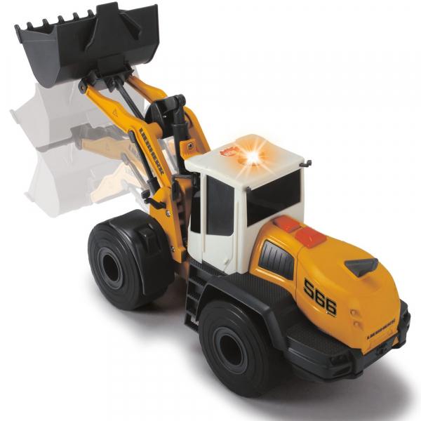 Excavator Dickie Toys Liebherr L566 Xpower cu sunete si lumini 5