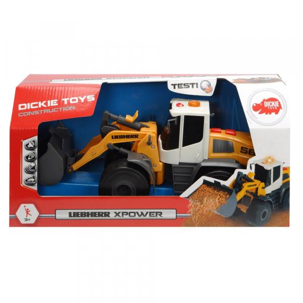 Excavator Dickie Toys Liebherr L566 Xpower cu sunete si lumini 6