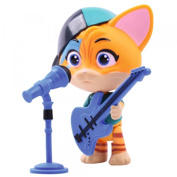 Figurina Smoby 44 Cats Lampo 7,7 cm cu microfon si chitara [0]