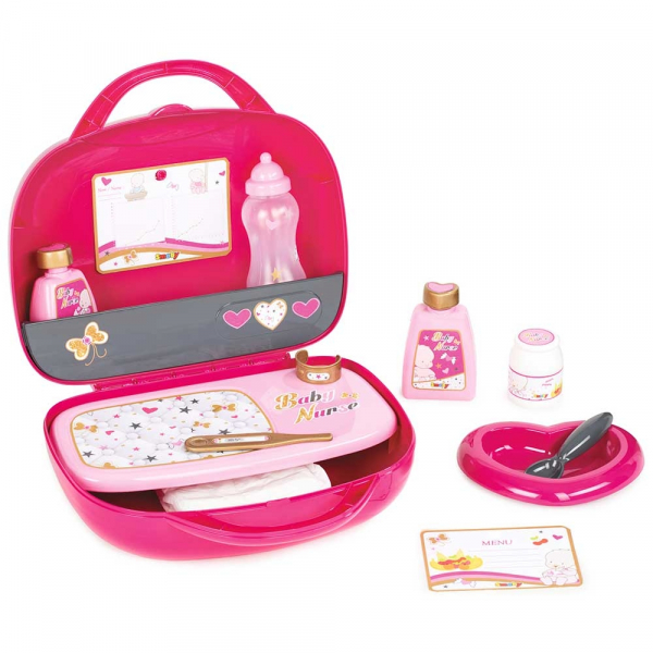 Gentuta pentru ingrijire papusi Smoby Baby Nurse roz 0
