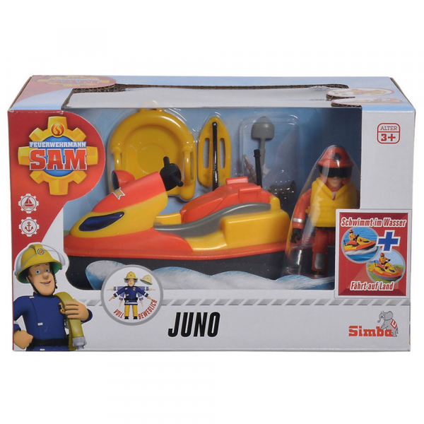 Jet Sky Simba Fireman Sam Juno cu figurina si accesorii 7