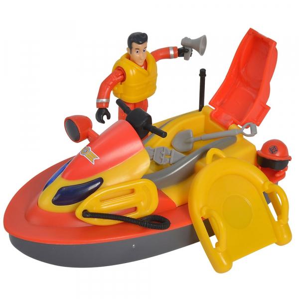 Jet Sky Simba Fireman Sam Juno cu figurina si accesorii 0