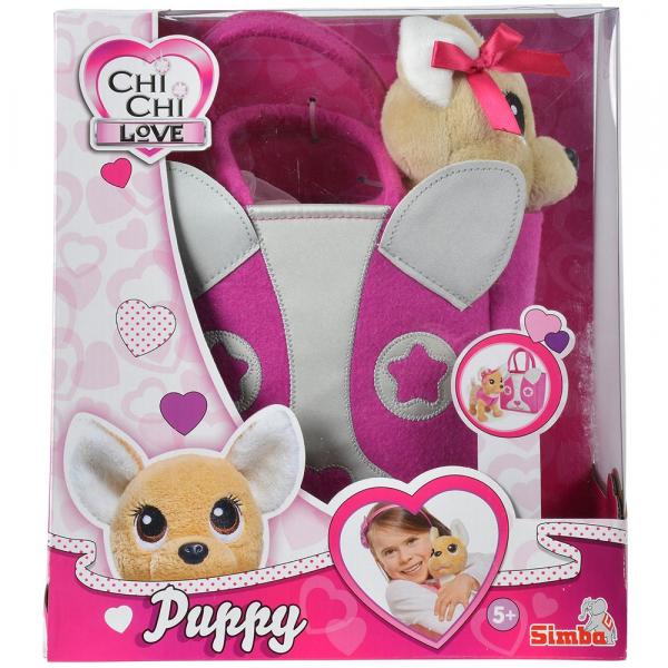 Jucarie de plus Simba Catel Chi Chi Love Puppy 20 cm cu geanta 6