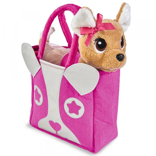 Jucarie de plus Simba Catel Chi Chi Love Puppy 20 cm cu geanta 1