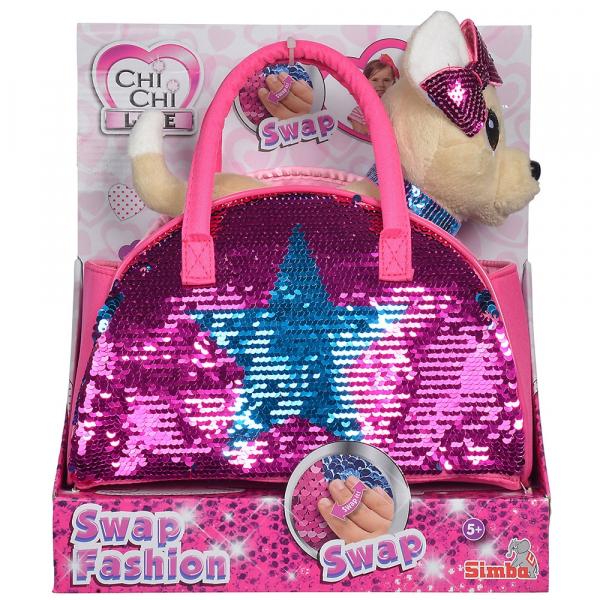 Jucarie de plus Simba Catel Chi Chi Love Swap fashion 20 cm cu geanta 6