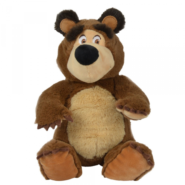 Jucarie de plus Simba Masha and the Bear, Bean Bag Bear 20 cm [0]