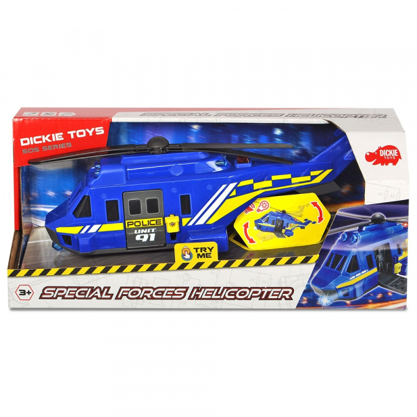 Jucarie Dickie Toys Elicopter de politie Special Forces Helicopter Unit 91 1