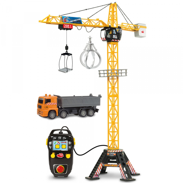 Jucarie Dickie Toys Macara Mega Crane cu camion si telecomanda 0