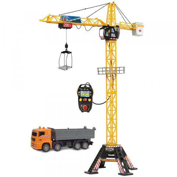 Jucarie Dickie Toys Macara Mega Crane cu camion si telecomanda 2