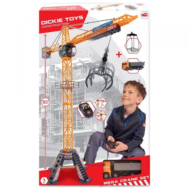 Jucarie Dickie Toys Macara Mega Crane cu camion si telecomanda 3