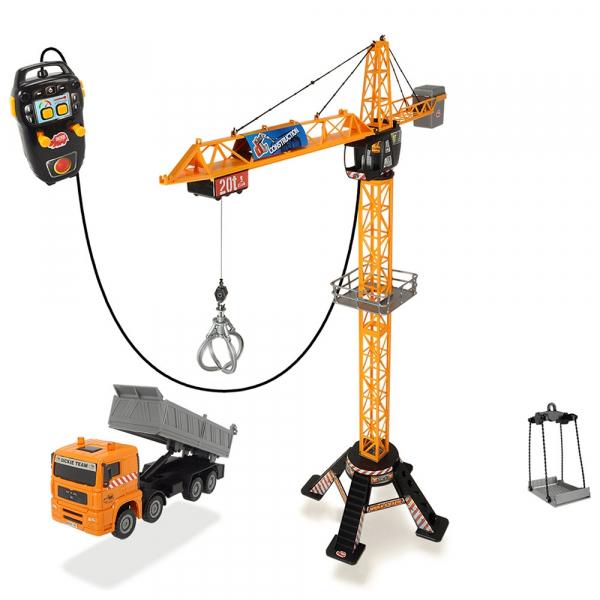 Jucarie Dickie Toys Macara Mega Crane cu camion si telecomanda 1