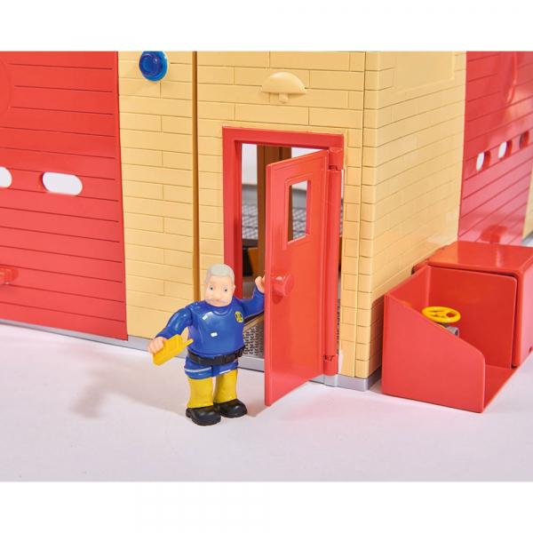 Jucarie Dickie Toys Statie de pompieri Fireman Sam cu figurina si accesorii 20