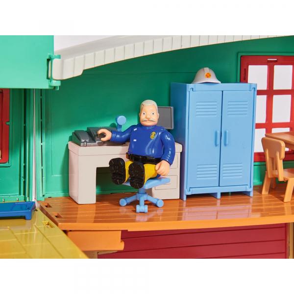 Jucarie Dickie Toys Statie de pompieri Fireman Sam cu figurina si accesorii 17