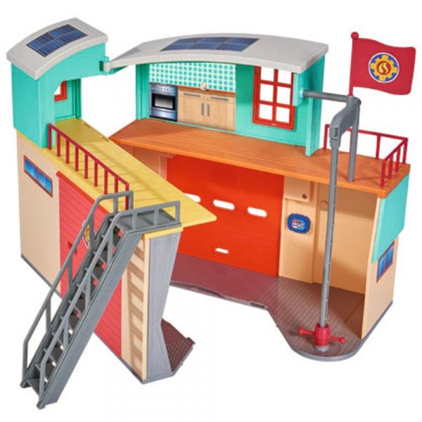 Jucarie Dickie Toys Statie de pompieri Fireman Sam cu figurina si accesorii 3