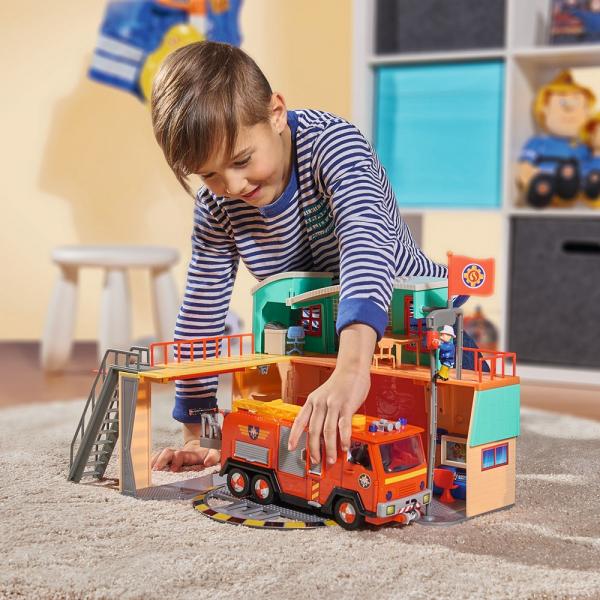 Jucarie Dickie Toys Statie de pompieri Fireman Sam cu figurina si accesorii 22