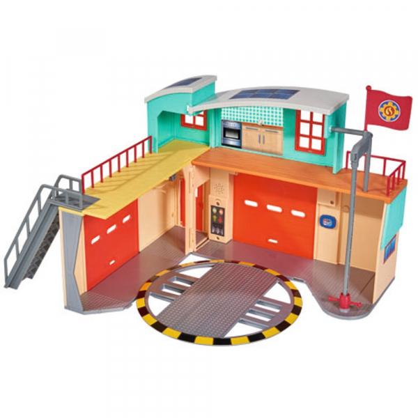 Jucarie Dickie Toys Statie de pompieri Fireman Sam cu figurina si accesorii 5