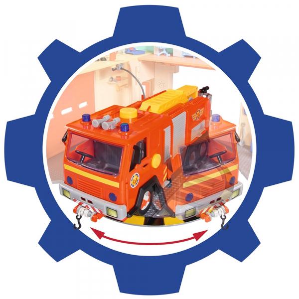 Jucarie Dickie Toys Statie de pompieri Fireman Sam cu figurina si accesorii 11