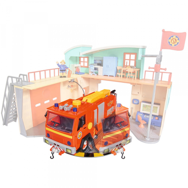 Jucarie Dickie Toys Statie de pompieri Fireman Sam cu figurina si accesorii 7
