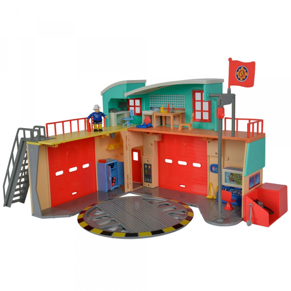 Jucarie Dickie Toys Statie de pompieri Fireman Sam cu figurina si accesorii 0
