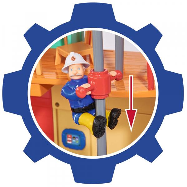Jucarie Dickie Toys Statie de pompieri Fireman Sam cu figurina si accesorii 13