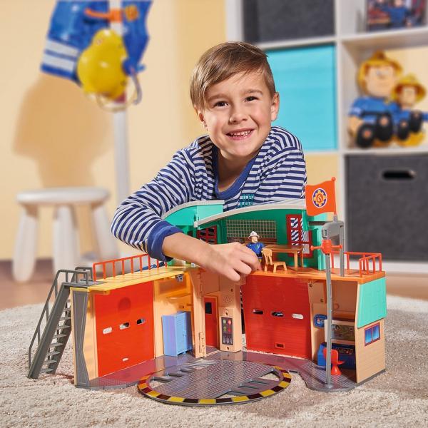 Jucarie Dickie Toys Statie de pompieri Fireman Sam cu figurina si accesorii 23