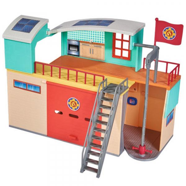 Jucarie Dickie Toys Statie de pompieri Fireman Sam cu figurina si accesorii 2