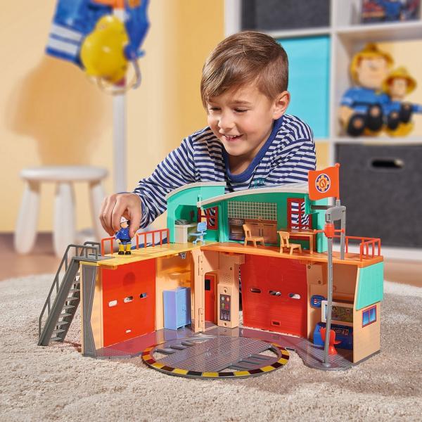 Jucarie Dickie Toys Statie de pompieri Fireman Sam cu figurina si accesorii 24
