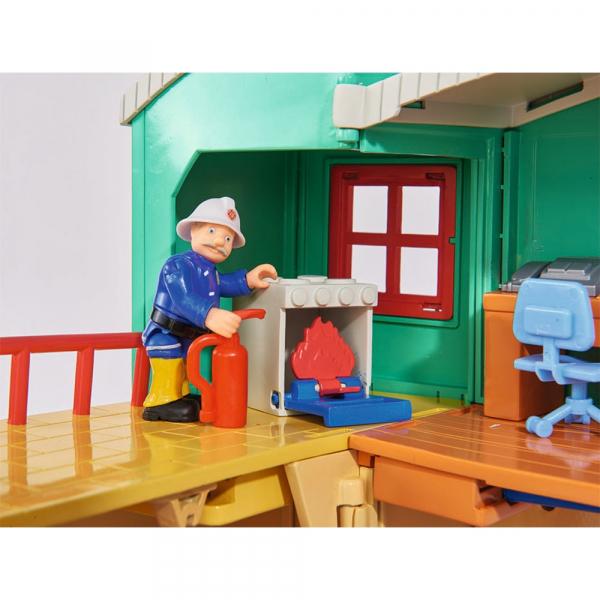 Jucarie Dickie Toys Statie de pompieri Fireman Sam cu figurina si accesorii 16