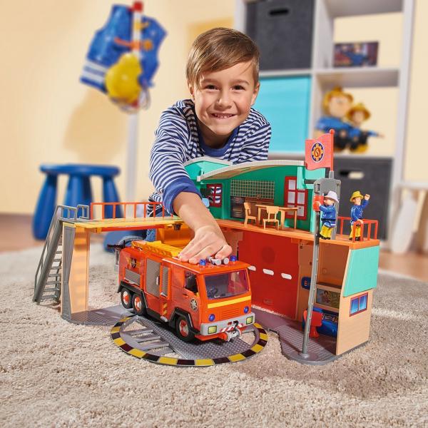 Jucarie Dickie Toys Statie de pompieri Fireman Sam cu figurina si accesorii 21