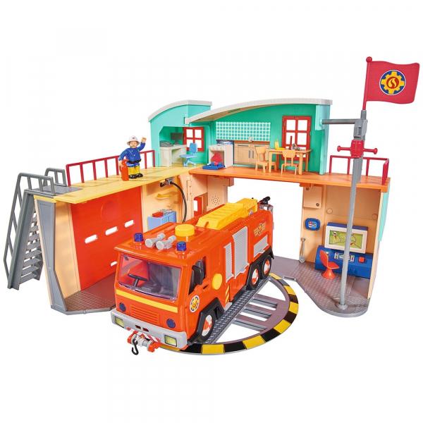 Jucarie Dickie Toys Statie de pompieri Fireman Sam cu figurina si accesorii 8