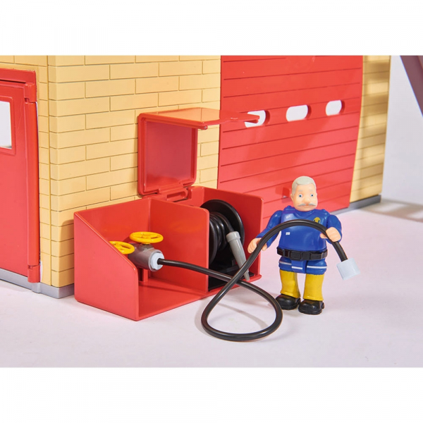Jucarie Dickie Toys Statie de pompieri Fireman Sam cu figurina si accesorii 19