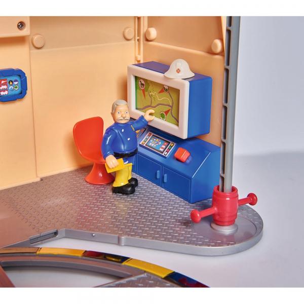 Jucarie Dickie Toys Statie de pompieri Fireman Sam cu figurina si accesorii 15