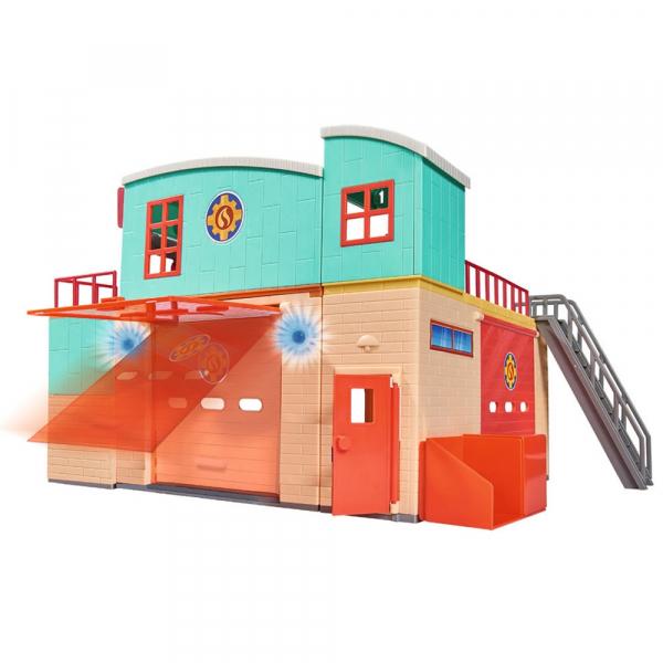 Jucarie Dickie Toys Statie de pompieri Fireman Sam cu figurina si accesorii 6