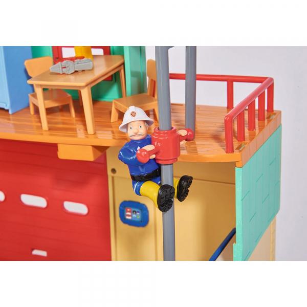 Jucarie Dickie Toys Statie de pompieri Fireman Sam cu figurina si accesorii 18