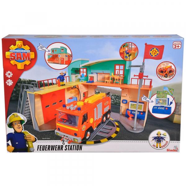 Jucarie Dickie Toys Statie de pompieri Fireman Sam cu figurina si accesorii 25